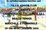 19-21 Settembre, Catania (CT). Campionato Italiano FSSI di Beach Tennis