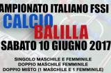 10 Giugno, Tortoreto Lido (TE). Campionato FSSI di Calcio Balilla