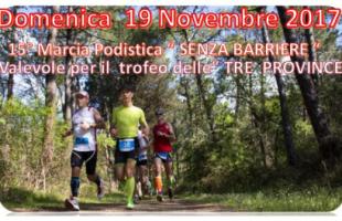 19 Novembre, Viareggio (LU). 15° Marcia podistica senza Barriere