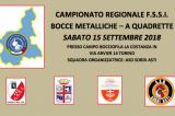 15 Settembre, Torino (TO). Campionato Regionale FSSI Piemonte di Bocce Metalliche