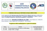24 Febbraio, Casalpalocco (RM). Torneo Sociale Tennistavolo FSSI Open