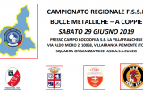 29 Giugno, Villafranca (TO). Campionato Regionale FSSI di Bocce