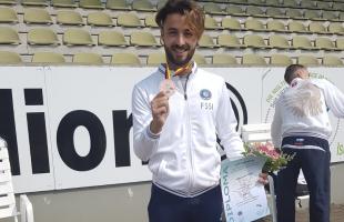 Alessandro Vizzini è medaglia di bronzo nelle 3.000 siepi agli Europei di atletica leggera sordi
