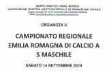14 Settembre, Montale (MO). Campionato Regionale FSSI di Calcio A5