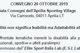 "20 Ottobre, Aprilia (LT). Convegno ""Lo sport non ha limiti"""